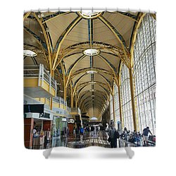 Shower Curtain featuring the photograph Reagan National Airport by Suzanne Stout