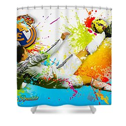 Real Madrid - Cr Shower Curtain