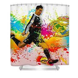 Real Madrid - Portuguese Forward Cristiano Ronaldo Shower Curtain