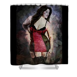 Real Woman Real Curves Shower Curtain by Absinthe Art By Michelle LeAnn Scott