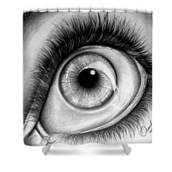 Realistic Eye Shower Curtain