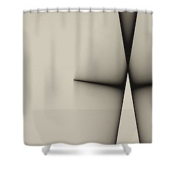 Rear View Shower Curtain by GJ Blackman