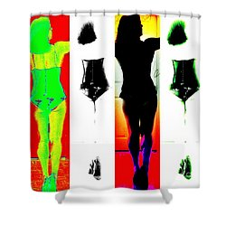 Rear View Reflections Shower Curtain by Lilliana Mendez