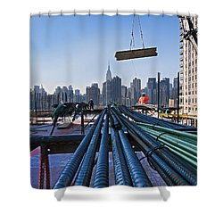 Rebar Shower Curtain