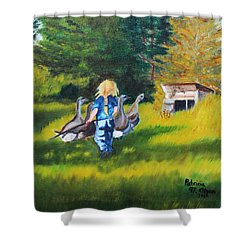 Rebecca Shower Curtain by Patricia Olson