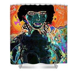 Rebel Shower Curtain by Natalie Holland