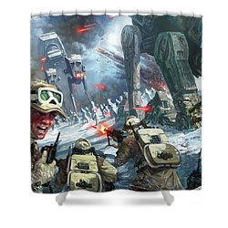 Rebel Rescue Shower Curtain by Ryan Barger