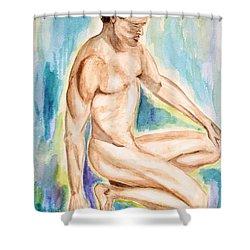 Rebirth Of Apollo Shower Curtain by Donna Blackhall
