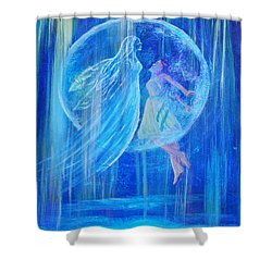 Rebirthing The Sacred Feminine Shower Curtain by The Art With A Heart By Charlotte Phillips