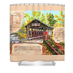 Rebuild The Bridge Shower Curtain by LeAnne Sowa