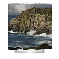 Receding Storm At Gulliver's Hole Shower Curtain by Marty Saccone