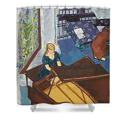 Recital Rehersal Shower Curtain by Betty Compton