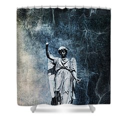 Reckoning Forces Shower Curtain by Andrew Paranavitana