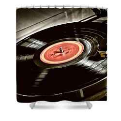 Record On Turntable Shower Curtain by Elena Elisseeva