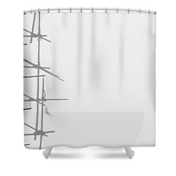 Rectangles And Shadows Shower Curtain
