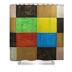Rectangles Shower Curtain by Stormm Bradshaw