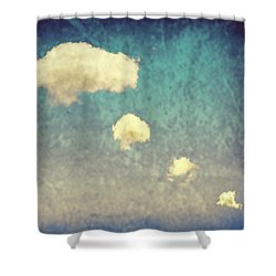 Recycled Clouds Shower Curtain by Amanda Elwell