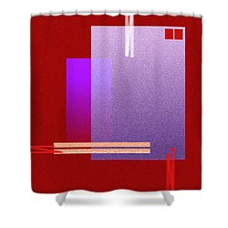 Red Abstract 2 Shower Curtain by Anil Nene