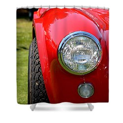 Shower Curtain featuring the photograph Red Ac Cobra by Dean Ferreira