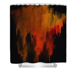 Red And Gold 1 Shower Curtain by Michael Pickett