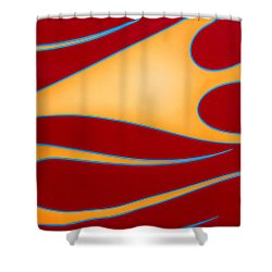 Shower Curtain featuring the photograph Red And Gold by Joe Kozlowski