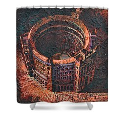 Red Arena Shower Curtain by Mark Jones