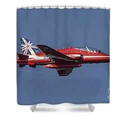 Red Arrows 50 Display Seasons Shower Curtain by J Biggadike