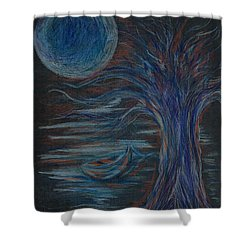 Red At Midnight Shower Curtain