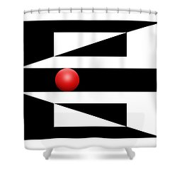 Red Ball 3 Shower Curtain