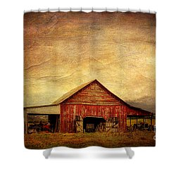 Red Barn  Shower Curtain by Joan McCool