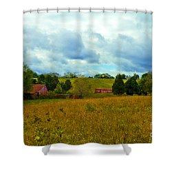 Red Barn Six Shower Curtain