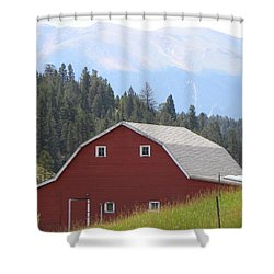 Barn - Pikes Peak Burgess Res Divide Co Shower Curtain
