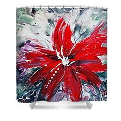 Red Beauty Shower Curtain by Teresa Wegrzyn