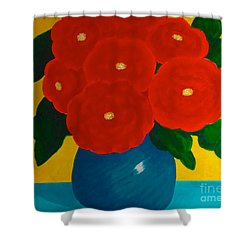 Shower Curtain featuring the painting Red Bouquet by Anita Lewis