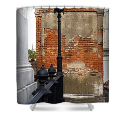 Red Bricks Shower Curtain