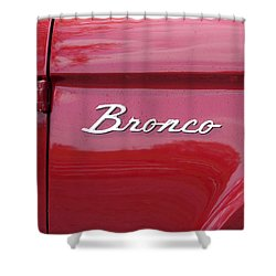 Red Bronco I Shower Curtain by Richard Reeve