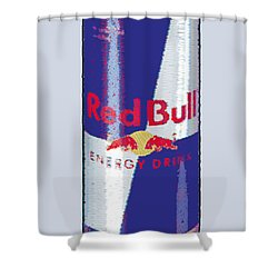 Red Bull Ode To Andy Warhol Shower Curtain by Tony Rubino