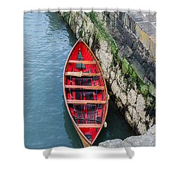 Red Canoe Shower Curtain by Mary Carol Story