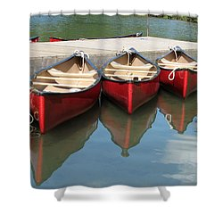 Red Canoes Shower Curtain