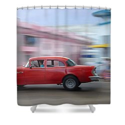 Red Car Havana Cuba Shower Curtain