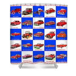 Red Cars Of America Shower Curtain by Jack Pumphrey