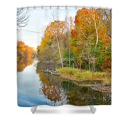 Red Cedar Fall Colors Shower Curtain by Lars Lentz