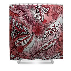 Red Chakra Shower Curtain