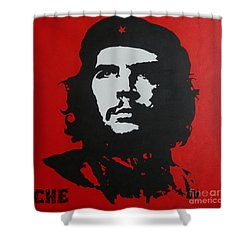 Red Che Shower Curtain by ID Goodall