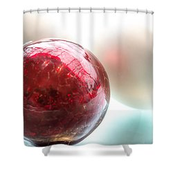Red Christmas Ball Shower Curtain