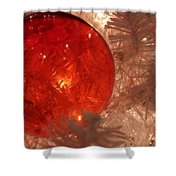 Red Christmas Ornament Shower Curtain by Lynn Sprowl