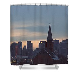 Shower Curtain featuring the photograph Red Church by Steven Macanka