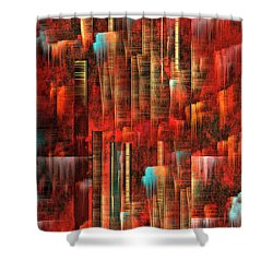 Shower Curtain featuring the painting Concrete Jungle by Yul Olaivar