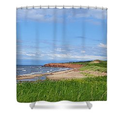 Red Cliffs Of Pei Shower Curtain