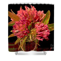 Red Clover 1 Shower Curtain by Martin Howard